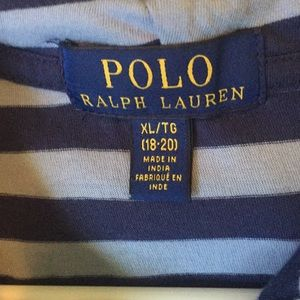 Boys Polo Long Sleeve Striped Hoodie
